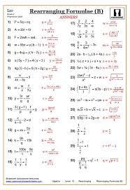 rearranging equations worksheets