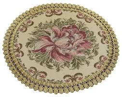 set of 2 modern placemats embroidery round placemats dining table mats victorian placemats by blancho bedding