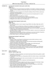 Resume Procurement Specialist Senior Procurement Specialist Resume Samples Velvet Jobs 9