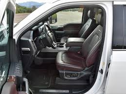 decked out in brunello leather the f 250 platinum test truck included a heated steering wheel heated and ventilated front seats heated rear seats