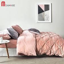 velvet bedding pull flower short set c fleece soft winter thickening solid color double flannel bed