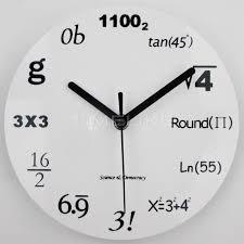8 inch acrylic wall clock creative math equations decorative wall clocks home decor quartz mathematical wall clock clock radio clock clock room