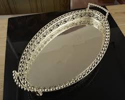 Decorative Platters And Trays 6060cm large size silver plated metal fruit plates fruit trays 6