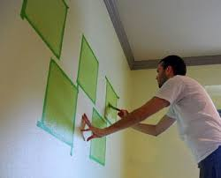 painting designs on wallspainting shapes squares designs on the wall  paint patterns