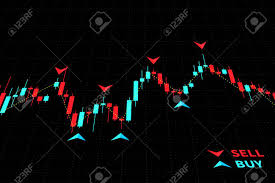 Forex Charts With Indicators Forex Trading Indicators Vector Illustration On Black Background