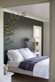 Painted wood accent wall behind bed - this is beautiful! This will  definitely be in my future house: