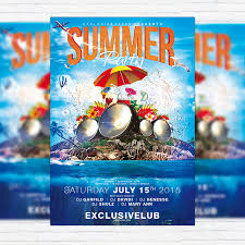 Summer Party Flyers Summer Party Vol 4 Psd Flyer Template Facebook Cover
