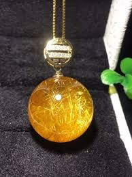 whole natural gold rutilated quartz crystal titanium pendant sphere ball 20mm women man necklace pendant jewelry aaaaa certificate gold necklace heart