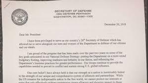James Mattis Quits Read His Resignation Letter Critiquing