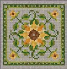 Free Sunflower Cross Stitch Pattern From Chatelaine Designs