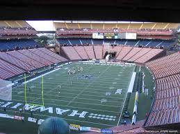 Aloha Stadium Seating Chart Virtual Aloha Stadium Brown Cc Rateyourseats Com