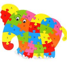 fd3453 wooden blocks kid child educational alphabet puzzle jigsaw toy elephant