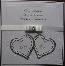 10 best diamond wedding cards images on pinterest wedding cards Diamond Wedding Cards And Gifts card made for a friend on her diamond wedding anniversary Wedding Anniversary Gifts by Year