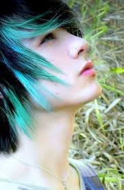 emo boy hair green page 1 line 17qq com
