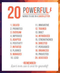 Words For A Resume 20 Powerful Words To Use In A Resume