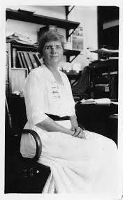 Priscilla Montgomery. First librarian at the MBL.