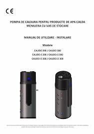 Manual Utilizare Instalare Pompa De Productie Apa Calda Menajera
