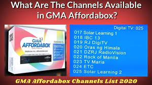 GMA Affordabox Channel List 2020: Know Channel Lineups on GMA Affordabox,  Complete GMA Digital TV Box Channels List Here