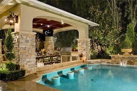 Exellent Backyard Pool And Outdoor Kitchen Designs Up Bar Cabana To Beautiful Design