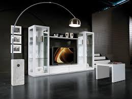 contemporary tv wall unit wooden q box rosso