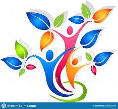 Family Tree With Shadow Vector Illustrator Stock Illustration