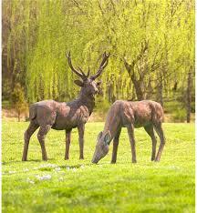 animal garden. Fiberglass Buck And Doe Garden Statuary Set GO7564 Animal