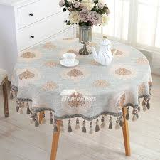 oval tablecloth 70 x 120 rustic inch round blue linen cotton elegant 5