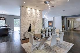 dining room tile flooring. modern dining room with bubbles lighting collection, 3d wall cubes wainscot panels, travertine tile flooring