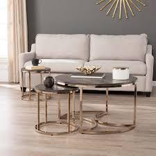 harper blvd belle round 3 piece nesting coffee table set
