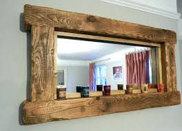 wood mirror frame. Wood Frame Floor Mirror Distressed Wooden Framed Mirrors Bathroom Stained With