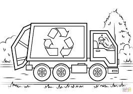 Recycling Truck coloring page | Free Printable Coloring Pages