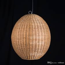 willr wicker pendant lamp handmade wood suspension light rugby shape lighting wicker hanging light hotel restaurant lounge glass pendant lamp shades