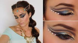 exotic makeup tutorial inspired by jasmine aladdin arabian nights you