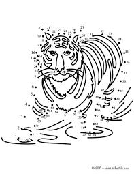 Tiger Dot To Dot Game Printable
