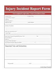 Incident Report Sample Format Incident Report Book Template Security