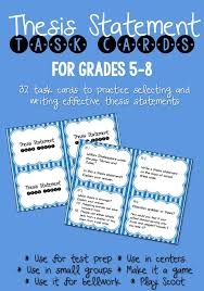 best thesis statement ideas writing a thesis thesis statement task cards black white ink saver set of 32 cards