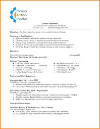 Resume Cvs Pharmacy Resume