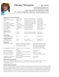 Ideas Collection Sample Audition Resume With Additional Cover