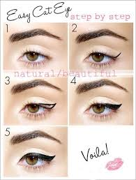 easy cat eye i real bad at eyeliner but i think even i could for