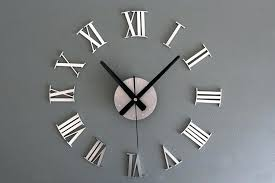 roman numeral wall clock a metallic 3 d roman numerals wall clock creative wall clock clock
