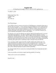 cover letter for pharmacist