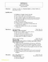 Highchool Resume Template No Experience Fortudents With Latest