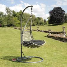 outdoor hanging furniture. Garden With Outdoor Hanging Egg Chair Fits The Outlook Of This Furniture