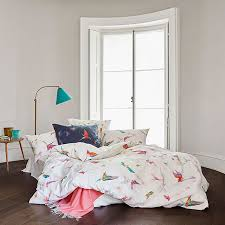 schlossberg switzerland lani blanc duvet cover pillow cases coordinate with lani blue accent