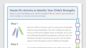 printable activity to identify your child s strengths