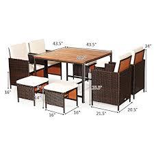 9pcs patio dining set outdoor dining