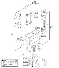 bolton toilet repair parts by kohler