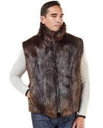 the ethan beaver fur vest for men