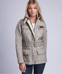 Women's Barbour Lightweight International Quilted Jacket & Women's Barbour International Lightweight Quilted Jacket - Taupe / Pearl Adamdwight.com