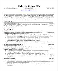 Sample Resume For Microbiologist Fresher